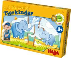 166-7466 1,2,Puzzelei - Tierkinder