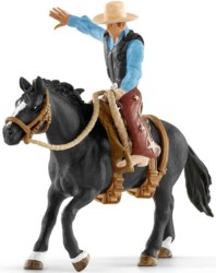 167-41416 Saddle bronc riding mit Cowboy