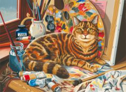 171-109105 Malen nach Zahlen - Katze Mamm