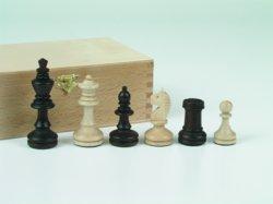 187-01136 Schachfiguren Ahorn braun / na