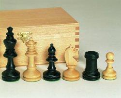 187-01156 Schachfiguren Ahorn schwarz /