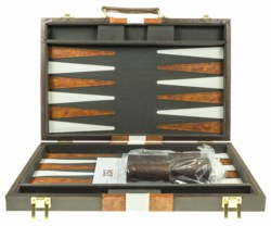 187-03624 Backgammon Koffer braun 38x24