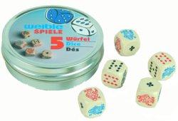 187-05449 5 Pokerwürfel Weible, ab 3 Jah