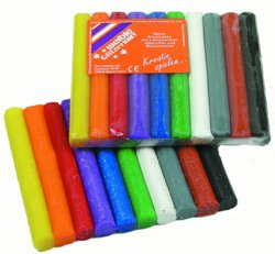 187-08811 Glitzer-Knete 10 Rollen farbig