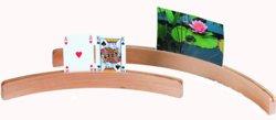 187-390817 Spielkartenhalter Holz 35 cm W