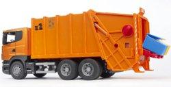 200-03560 Scania Müll-LKW orange Bruder