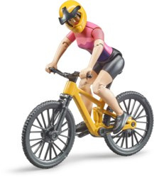 200-63111 Mountainbike mit Radfahrerin B