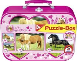 223-55588 Puzzle-Box -  Pferde Schmidt S
