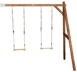 231-A03014400 Holz Doppelschaukel braun Wand