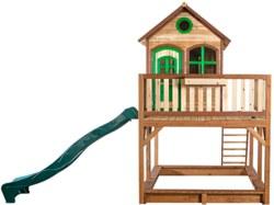 231-A03015100 Holz Spielhaus Liam mit Rutsch