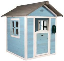 231-C05000101 Holz Spielhaus Lodge blau/weiß