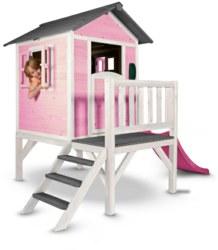 231-C05000202 Spielhaus Lodge XL Pink/Weiß (