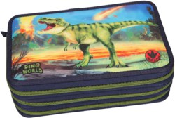 262-10249 Dino World 3-fach Federtasche