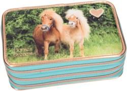 262-10417 Horses Dreams 3-fach Federtasc