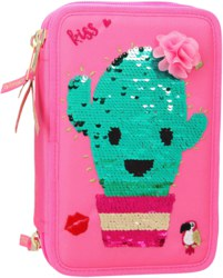 Depesche 10598 TOPModel 3-fach Federtasche Panda rosa Candy /& Lexy