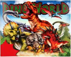 262-10553 Dino World Stickerfun, Malbuch