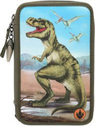 262-10642 Dino World 3-fach Federtasche