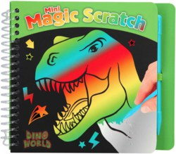 262-10711 Dino World  Mini Magic Scratch