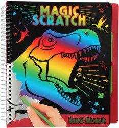 262-10833 Dino World Magic Scratch Book