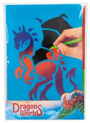 262-11078 Dino World Magic Scratch Karte