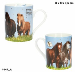 262-4447 Horses Dreams Becher mit Goldd