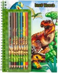 262-6852 Dino World Malbuch mit Buntsti