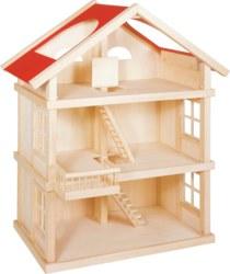 266-51957 Holz Puppenhaus 3 Etagen Goki,