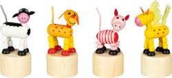 266-53959 Wackelfiguren Tiere Goki, Kind