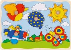 266-57859 Steckpuzzle Luftballon Goki,