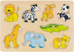 266-57874 Steckpuzzle Zootiere Goki, für