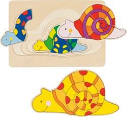 266-57898 Schichtenpuzzle Schnecke Goki,