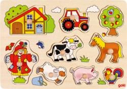 266-57995 Steckpuzzle Bauernhof Goki, fü