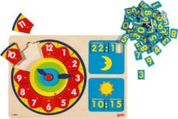 266-58650 Lernuhr Puzzle Goki, für Kinde