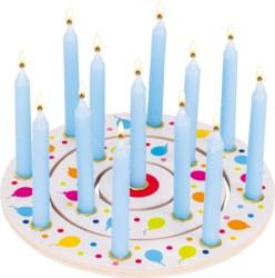 GOKI Geburtstagskind Kleiner Junge Austauchbare Zahlen 1-9 Holz Geburtstag