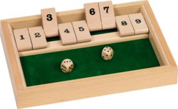 266-HS075 Shut the Box Würfelspiel Goki,