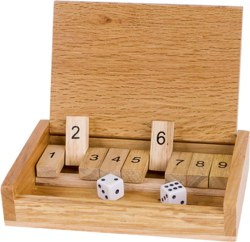 266-HS185 Shut the Box Würfelspiel Goki,