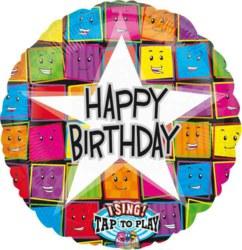 270-1264501 Gefüllter Folienballon Happy B