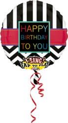 270-3000501 Gefüllter Folienballon Happy B