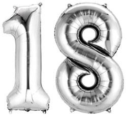270-3386601 Gefüllter Folienballon Zahl 18