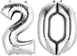 270-3386801 Gefüllter Folienballon Zahl 20