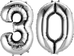 270-3387001 Gefüllter Folienballon Zahl 30