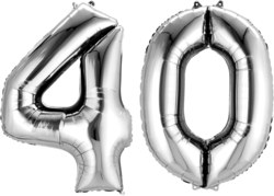 270-3387201 Gefüllter Folienballon Zahl 40