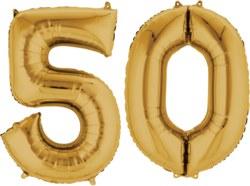 270-3387301 Gefüllter Folienballon Zahl 50