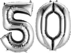 270-3387401 Gefüllter Folienballon Zahl 50