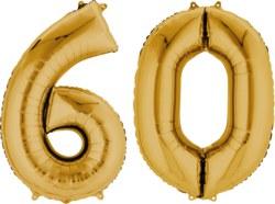 270-3387501 Gefüllter Folienballon Zahl 60