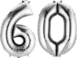 270-3387601 Gefüllter Folienballon Zahl 60