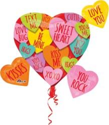 270-3415601 Gefüllter Folienballon Herz mi