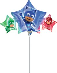270-3467502-3 Mini Folienballon PJ Masks Ste