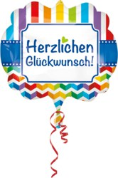 270-3583201 Gefüllter Folienballon Herzlic