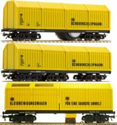311-9635 3er Set Säuberungswagen: Gleis